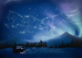 Christmas scene by EmiliaPaw5