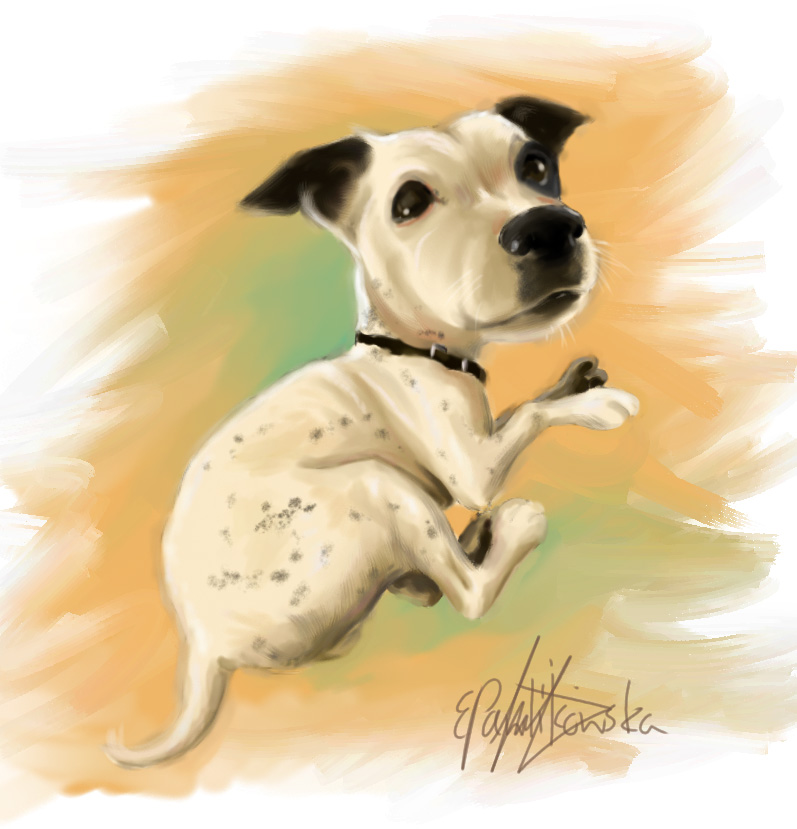 Rex caricature by EmiliaPaw5