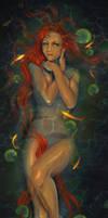 Lady in the pond by EmiliaPaw5