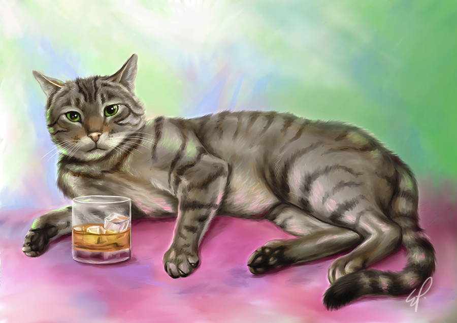 Oliver the cat commission by EmiliaPaw5