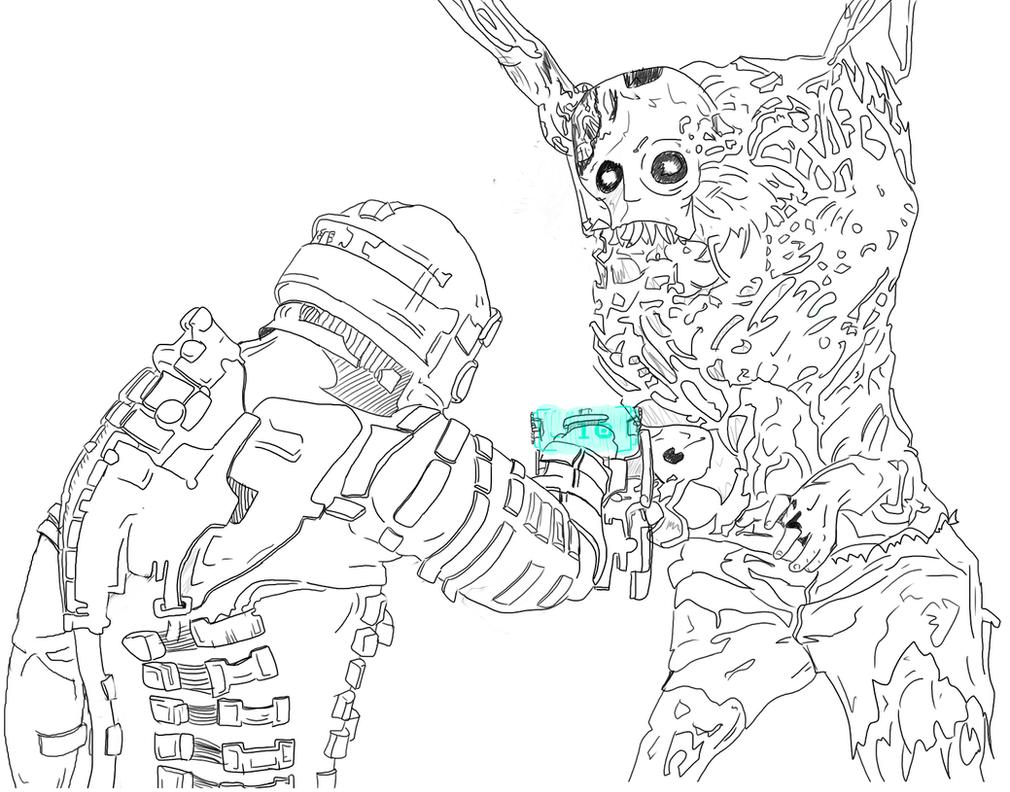 Line Art Universe : Dead space line art by noahrifa on deviantart