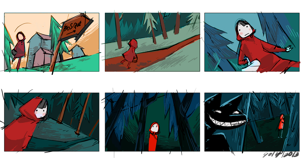 Little Red Riding Hood Storyboard By Yuriko Goly On Deviantart