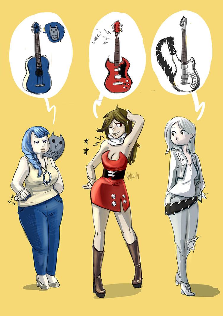 Guitars by Yuriko-Goly