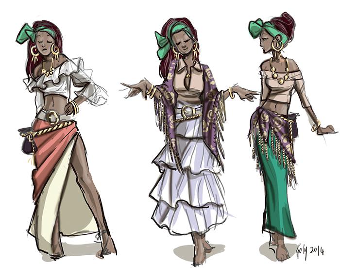 Vestuario Teela Bocetos by Yuriko-Goly