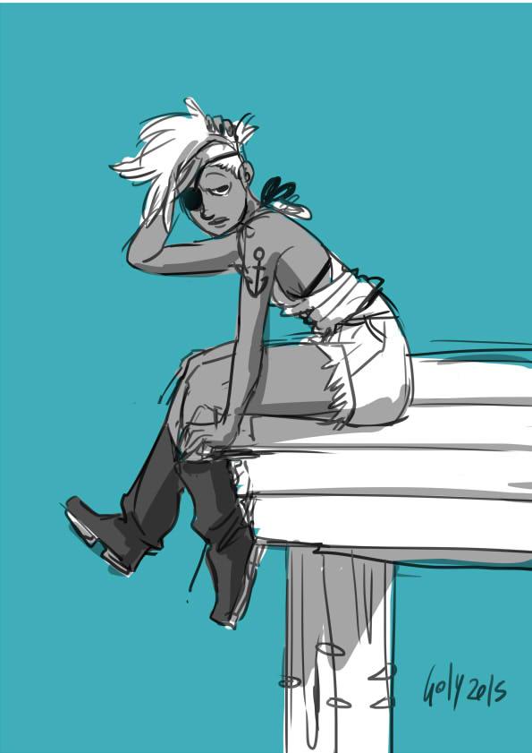 PIrat Sketch by Yuriko-Goly