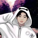 BTS // JUNGKOOK with BAYMAX HOODIE