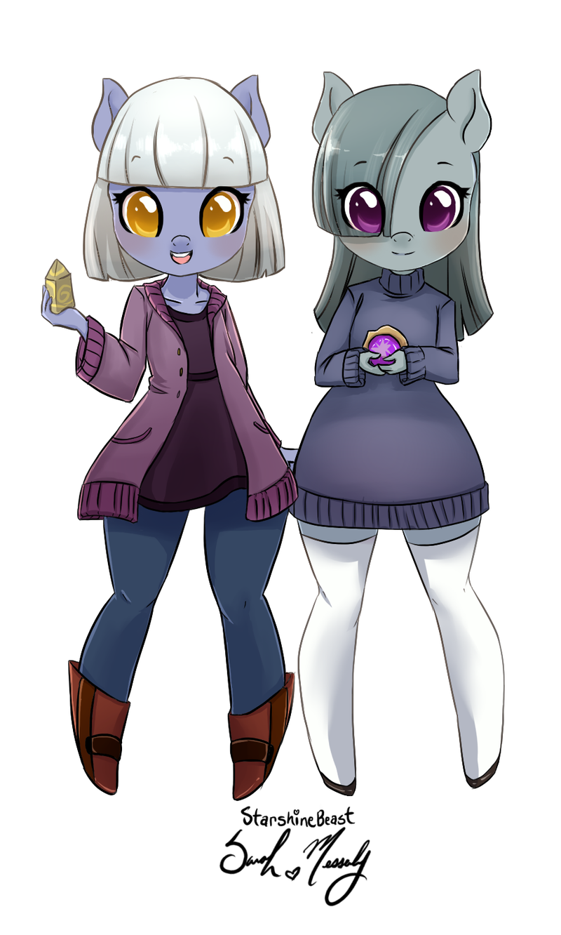 Inkie and Blinkie Pie by StarshineBeast