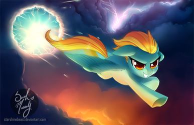 Lightning Dust (commission) by StarshineBeast