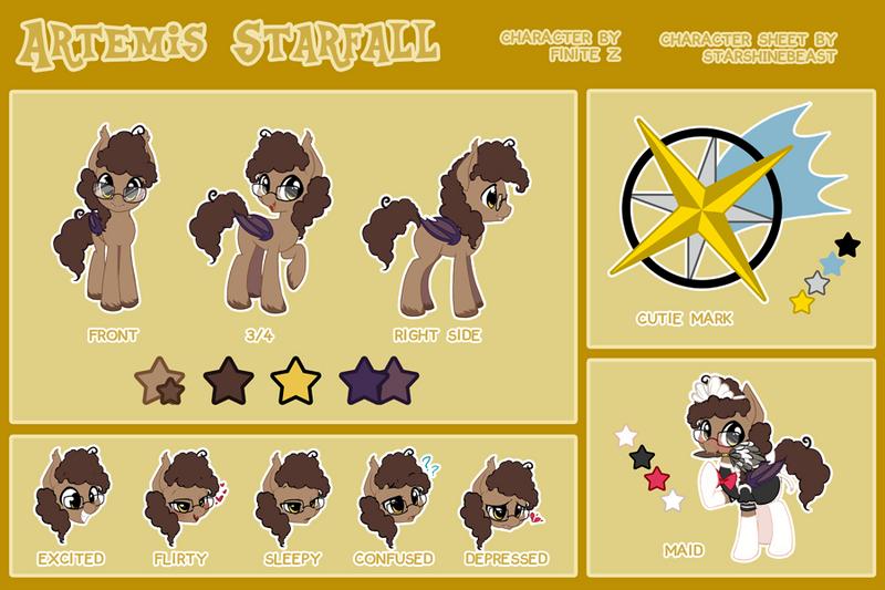 Artemis Starfall reference sheet (commission) by StarshineBeast
