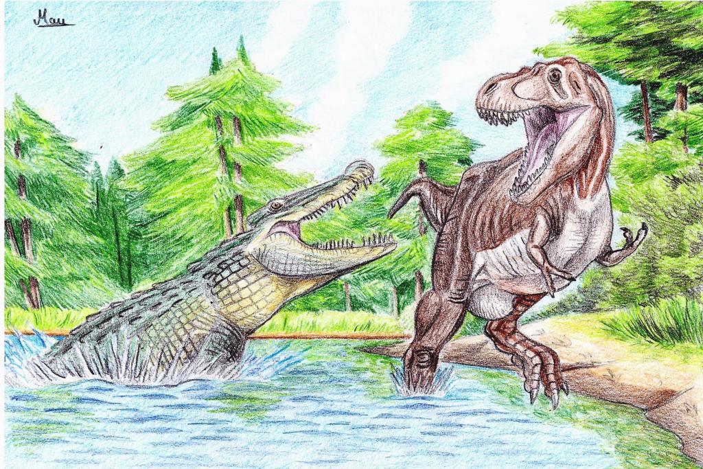 Deinosuchus Vs Spinosaurus   www.imgkid.com - The Image ...