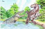 Deinosuchus vs. T-rex