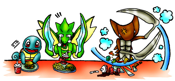 Pokemon fast food by cid fox on deviantart for Pokemon cuisine
