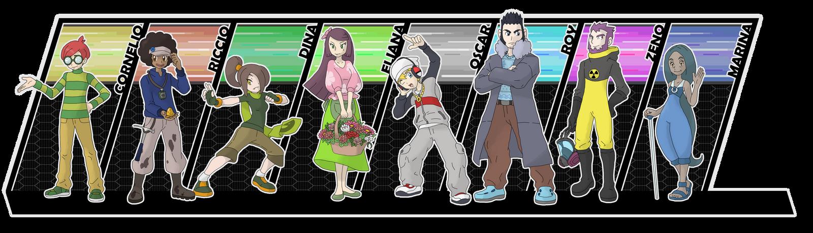 Gym Leaders - Third Generation by Cid-Fox