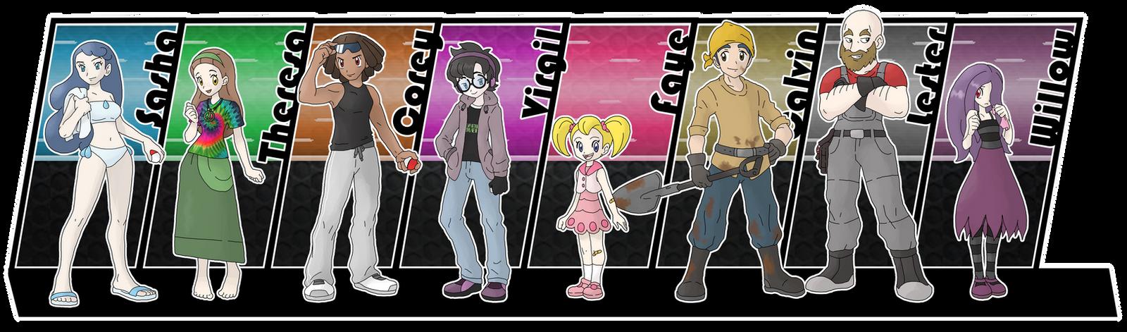 Commission - Yondaime22 Gymleaders by Cid-Fox