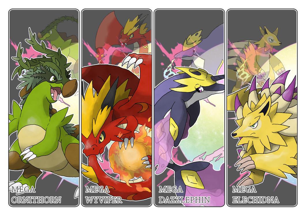 Commission - Mega Fakemons by Cid-Fox