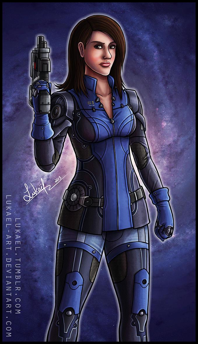 Mass Effect: Ashley Williams by Lukael-Art