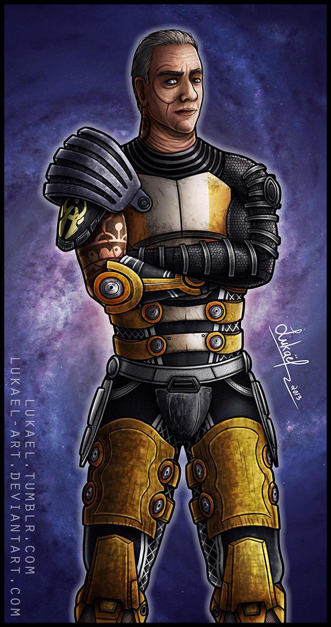 Mass Effect: Zaeed Massani by Lukael-Art