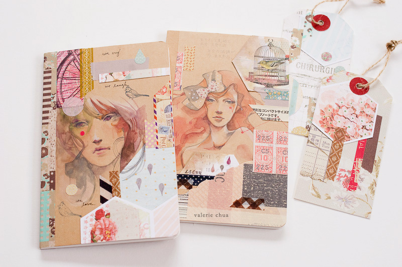 Hand Painted Notebooks by green-tea