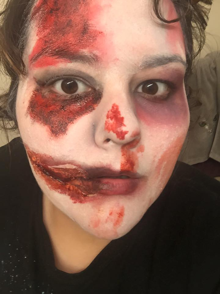 Zombie Makeup by leafyloo