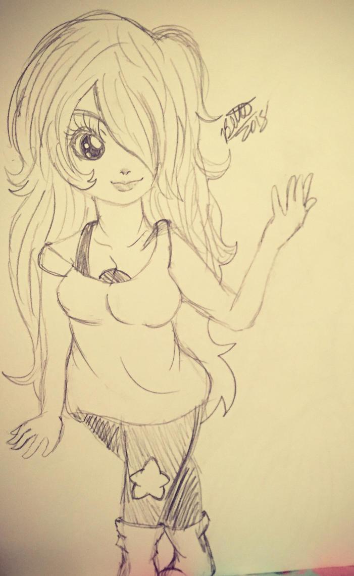 Amethyst sketch by leafyloo