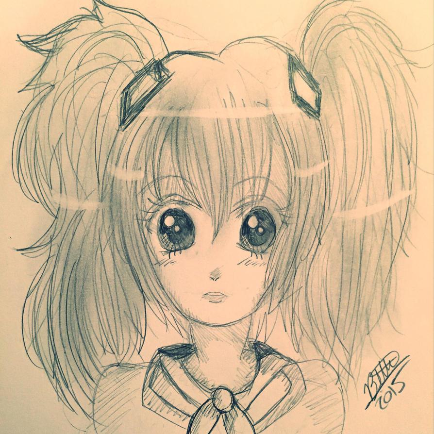 Sailor Miku sketch by leafyloo