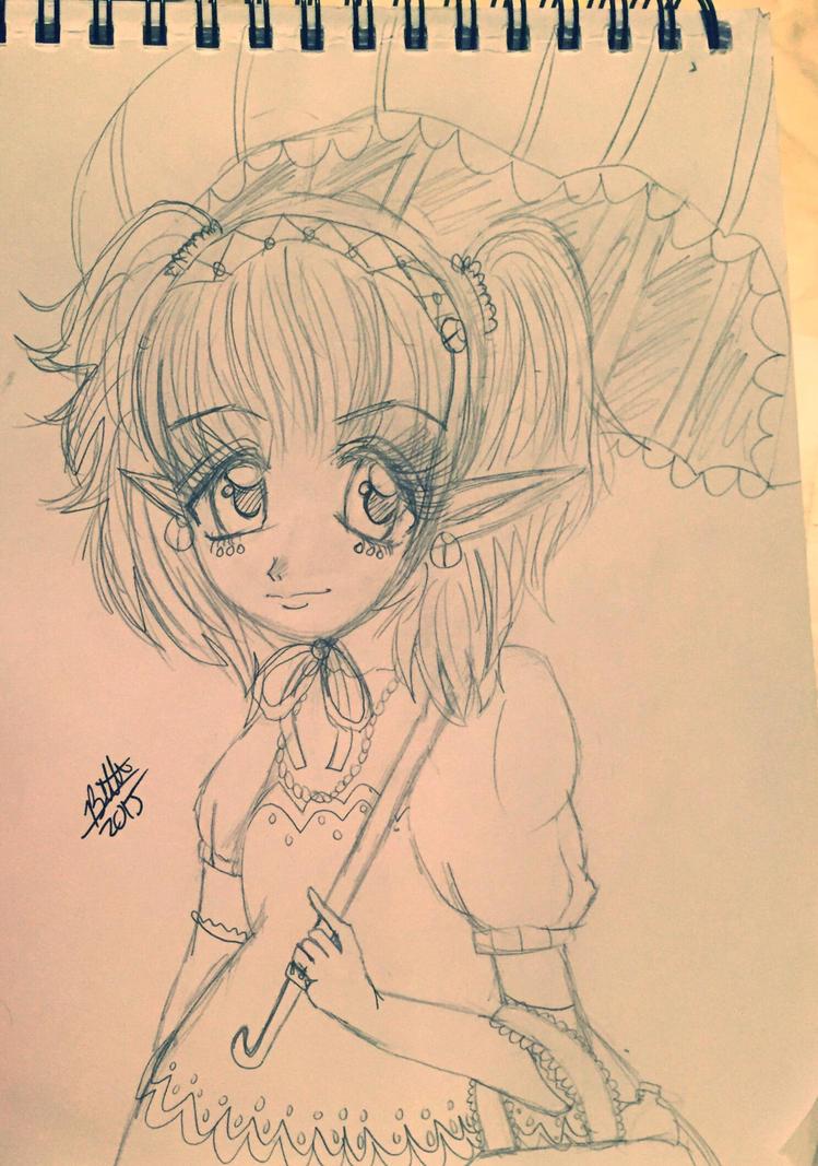 Agitha sketch by leafyloo