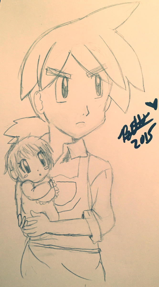 Reggie and baby Hayleigh  by leafyloo