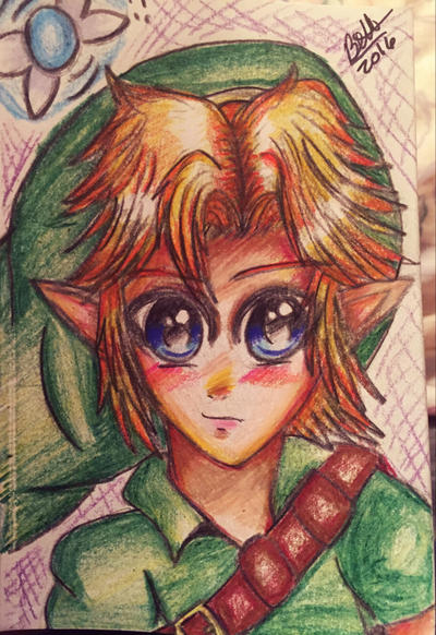 Young Link  by leafyloo