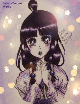 Maya Fey Pen Drawing