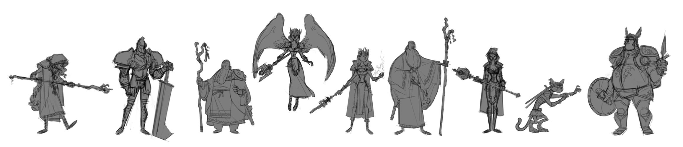 FantasyCharactersRough by stottt