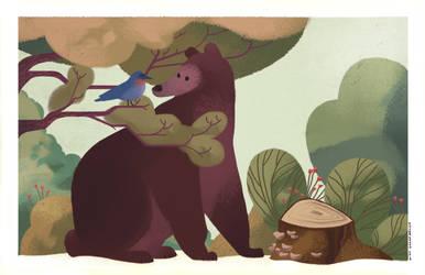 Bear and Bird by stottt