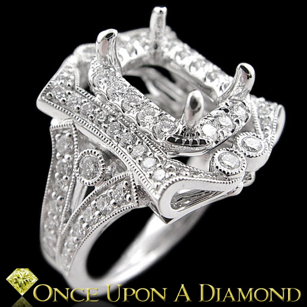 Victorian Style Engagement Ring Setting by ceUponADiamond on DeviantArt