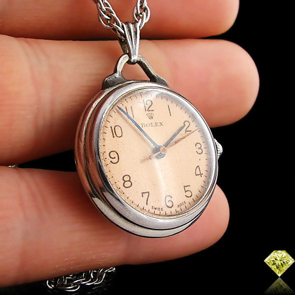 Rare antique rolex nurse pendant watch resting by onceuponadiamond mozeypictures Images