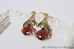 Art Nouveau Daisies earrings