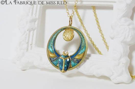 Egyptian beetle pendant