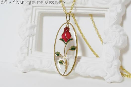 Red rose blossom pendant