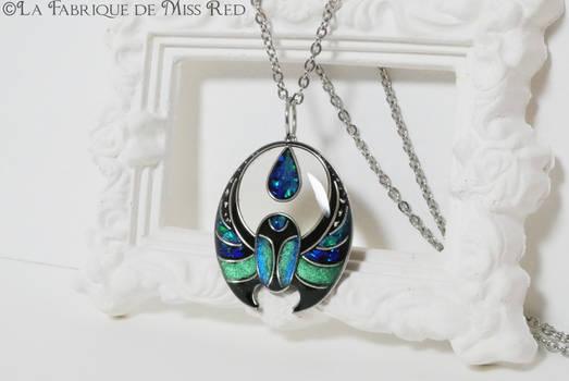 Egyptian beetle Art Deco pendant