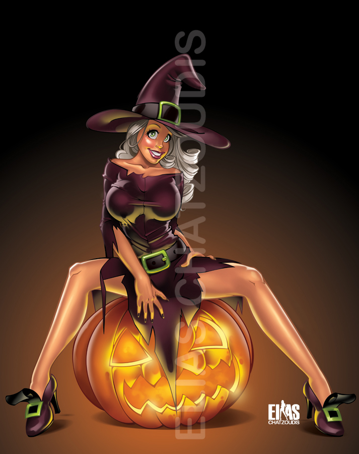 halloween witch by elias chatzoudis - Halloween Which