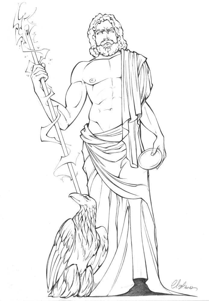Zeus by elias chatzoudis on deviantart for Zeus coloring page