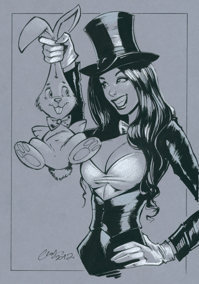 Zatanna and bunny by Elias-Chatzoudis