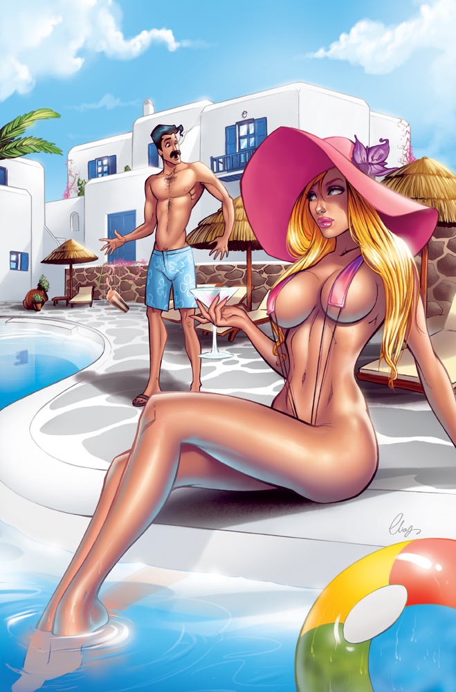 Samantha at the pool by Elias-Chatzoudis