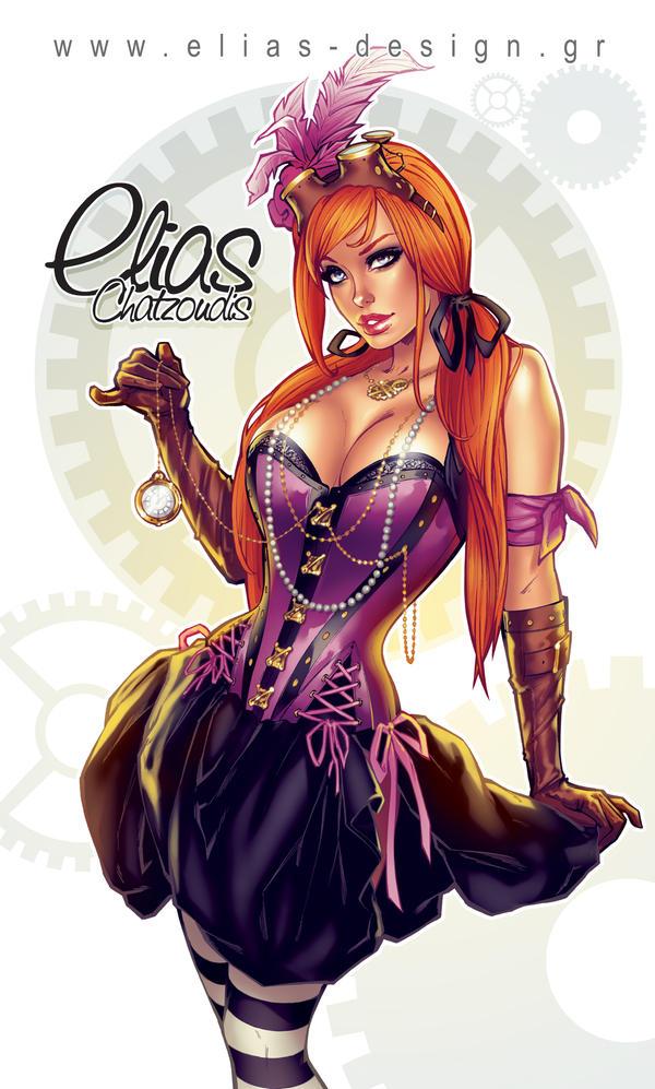 Steampunk girl by Elias-Chatzoudis