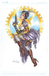 Lady Mechanika copic by Elias-Chatzoudis