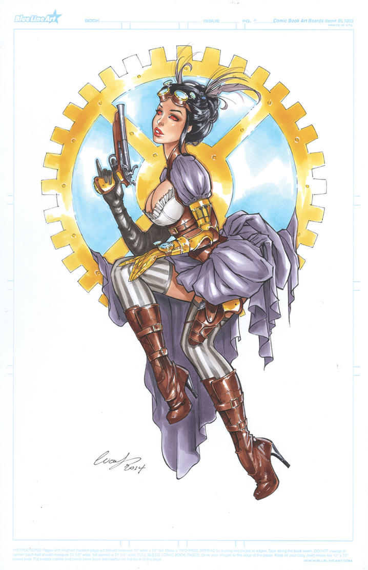Lady Mechanika copic by Elias-Chatzoudis