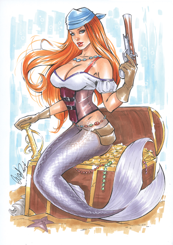 Pirate Mermaid by Elias-Chatzoudis