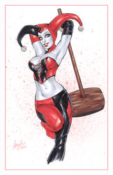 Harley Quinn with a big mallet by Elias-Chatzoudis
