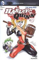 Harley Queen Blank cover by Elias-Chatzoudis