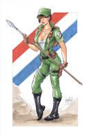Lady Jaye GI joe by Elias-Chatzoudis