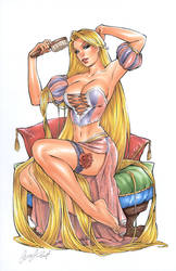 Rapunzel II copic by Elias-Chatzoudis
