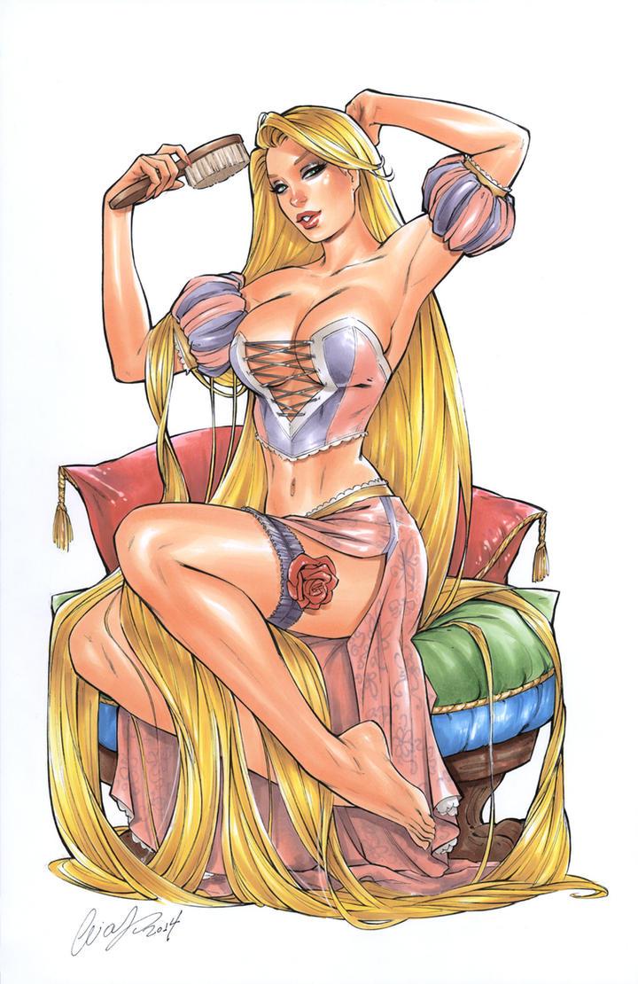 Rapunzel II copic by Elias-Chatzoudis